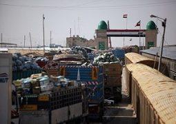 فعالیت صادرات کالا از مرز شلمچه