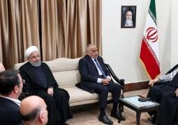 رهبر معظم انقلاب اسلامی در دیدار نخست وزیر عراق: کاری کنید که نظامیان امریکایی هرچه زودتر از عراق خارج شوند