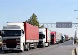 توقف۴۰ کامیون حامل کالای صادراتی به عراق در مرز شلمچه